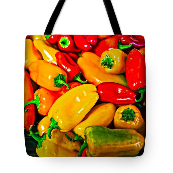 Hot Red Peppers Tote Bag