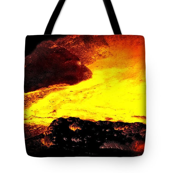 Tote Bag featuring the photograph Hot Rock And Lava by Pennie  McCracken