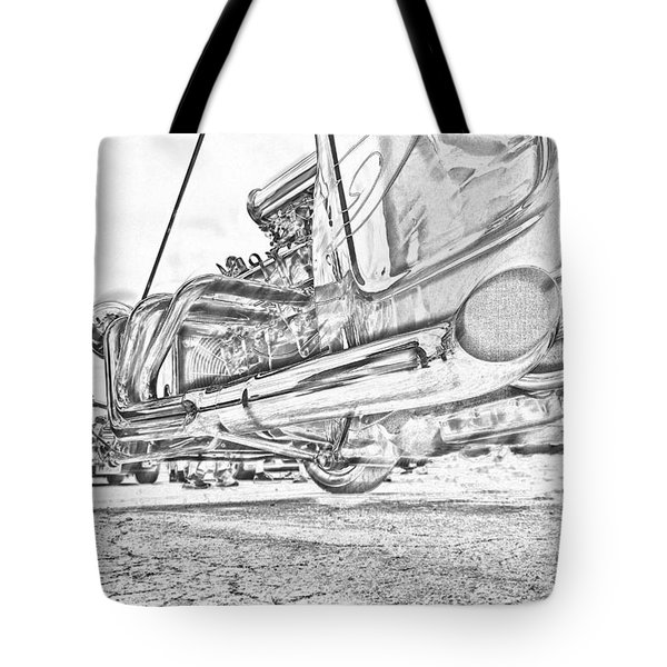 Hot Rod Exhausting Tote Bag