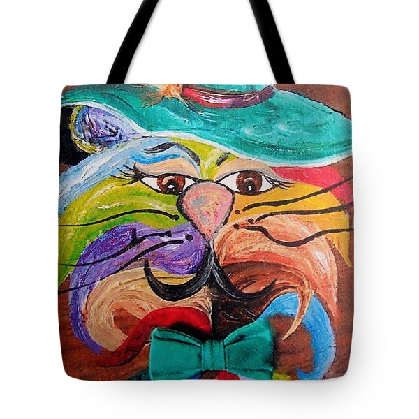 Hot Stuff - One Cool Cat   Tote Bag by Eloise Schneider