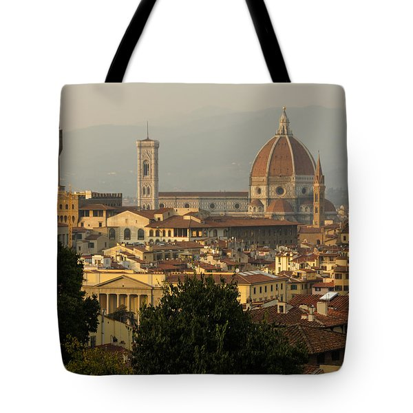 Hot Summer Afternoon In Florence Italy Tote Bag