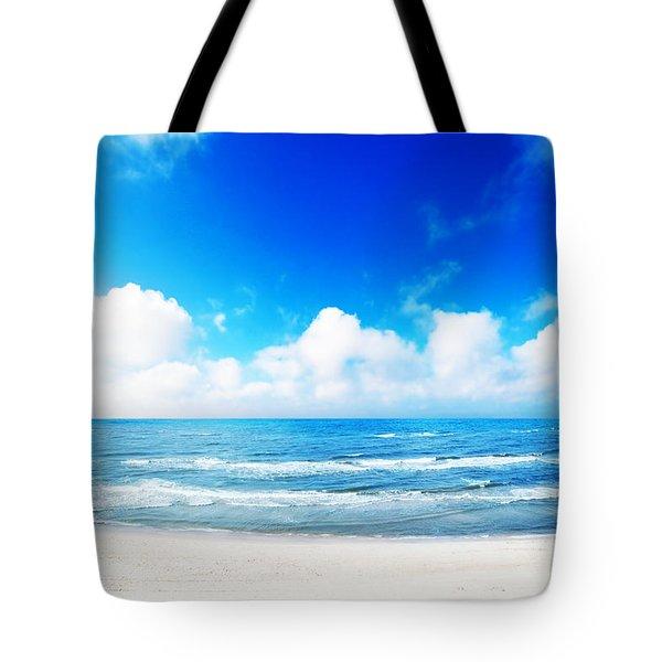 Hot Summer Beach Tote Bag by Michal Bednarek