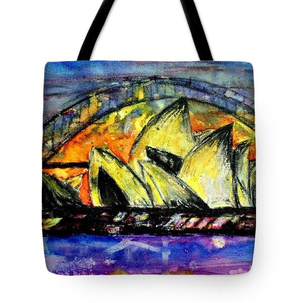Hot Sydney Night Tote Bag by Lyndsey Hatchwell