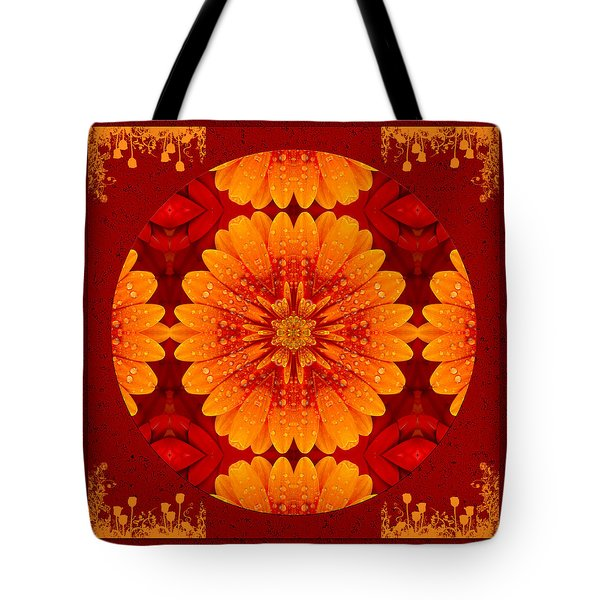 Tote Bag featuring the digital art Hot Tropical Zen by Isabella Howard