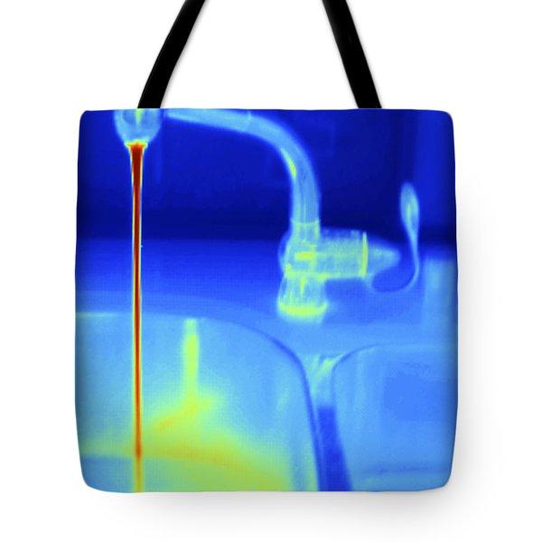 Hot Water Faucet Tote Bag