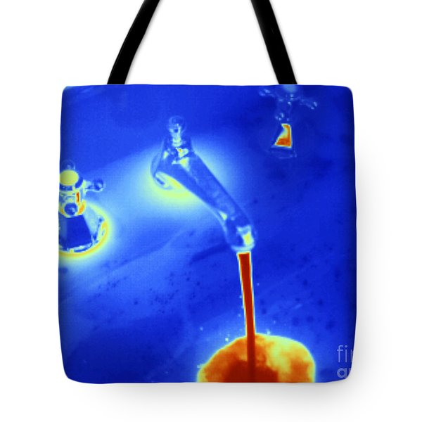 Hot Water From A Faucet, Thermogram Tote Bag
