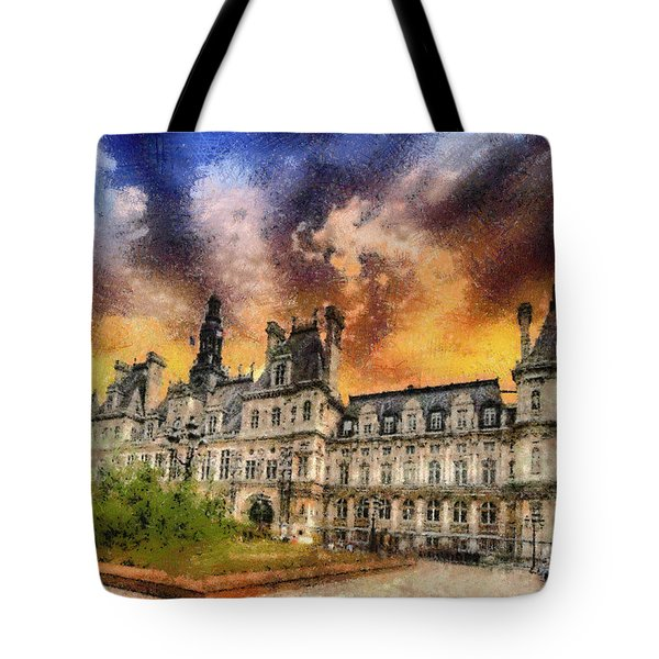 Tote Bag featuring the photograph Sunset At The Hotel De Ville by Charmaine Zoe