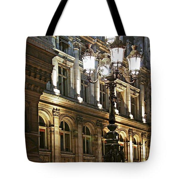 Hotel De Ville In Paris Tote Bag by Elena Elisseeva