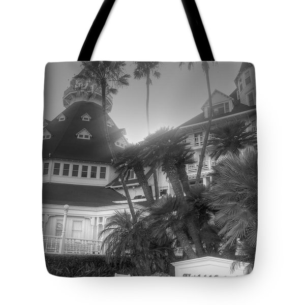 Hotel Del At Sunset Tote Bag