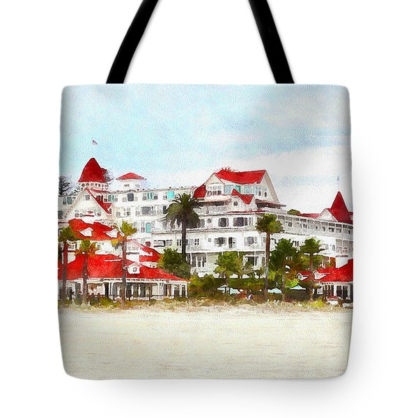 Hotel Del Coronado In Coronado California 5d24312wcstyle Long Tote Bag