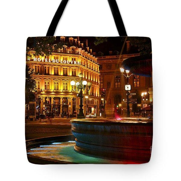 Hotel Du Louvre Tote Bag