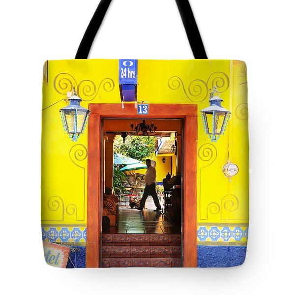 Tote Bag featuring the photograph Hotel Estancia - Ajijic - Mexico by David Perry Lawrence