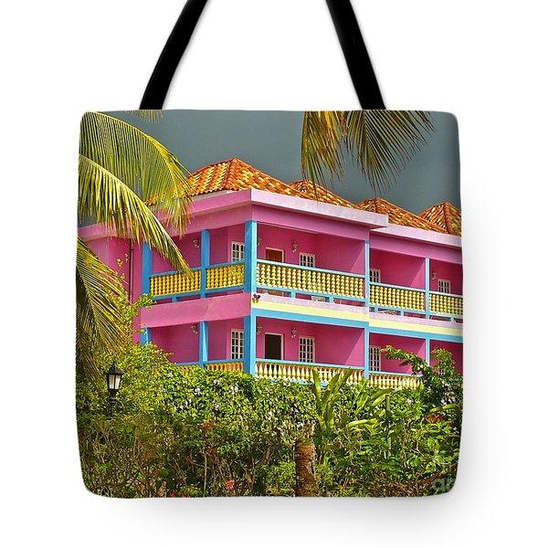 Hotel Jamaica Tote Bag by Linda Bianic
