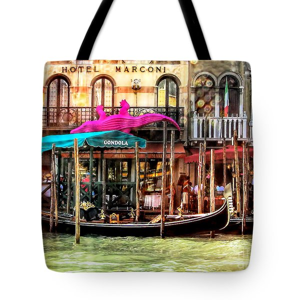 Hotel Marconi.venice. Tote Bag by Jennie Breeze