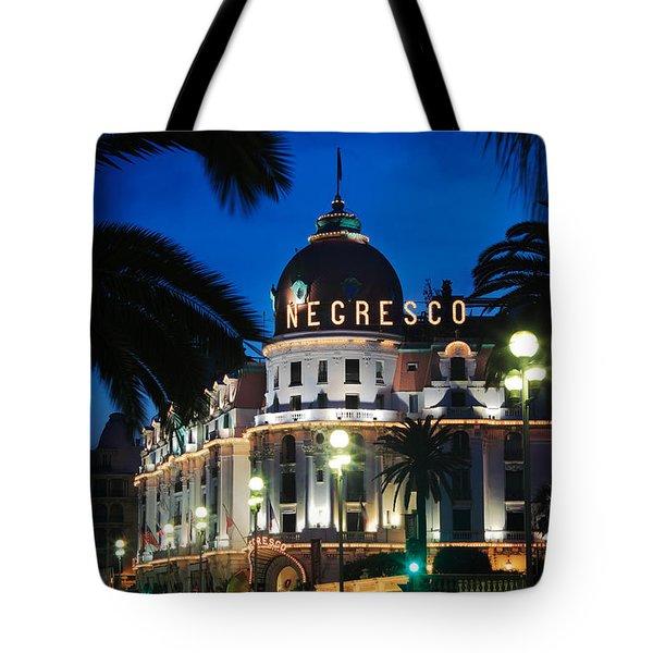 Hotel Negresco Tote Bag by Inge Johnsson