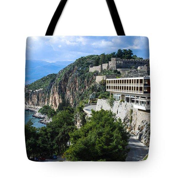Hotel On Acronafplia Tote Bag