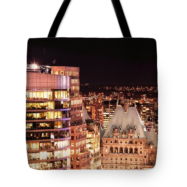 Tote Bag featuring the photograph Hotel Vancouver And Wall Center Mdccv by Amyn Nasser
