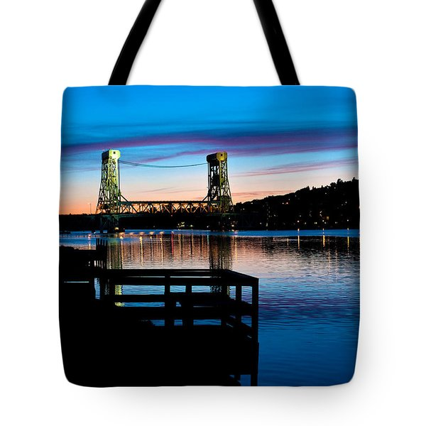 Houghton Bridge Sunset Tote Bag