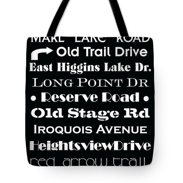 Houghton Higgins Subway Sign Tote Bag by Desiree Paquette