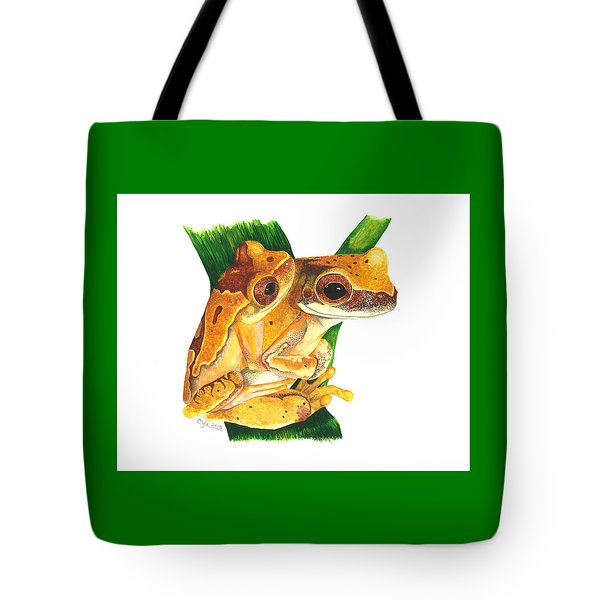 Hourglass Treefrog Tote Bag