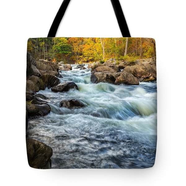 Housatonic River Autumn Tote Bag by Bill Wakeley