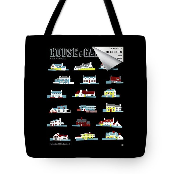 House & Garden Cover Illustration Of 18 Houses Tote Bag