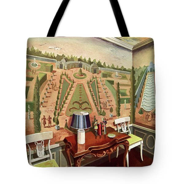House & Garden Cover Illustration Of 18th Century Tote Bag