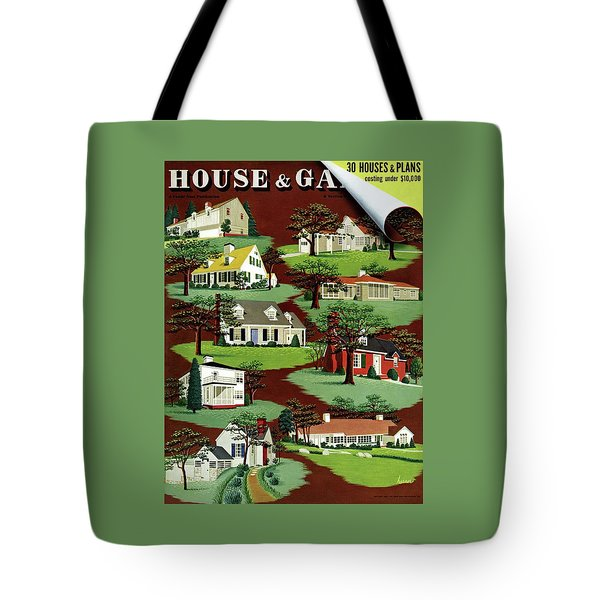 House & Garden Cover Illustration Of 9 Houses Tote Bag