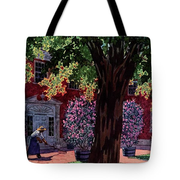 House & Garden Cover Illustration Of A Gardener Tote Bag