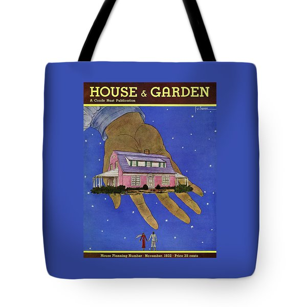 House & Garden Cover Illustration Of A Giant Hand Tote Bag