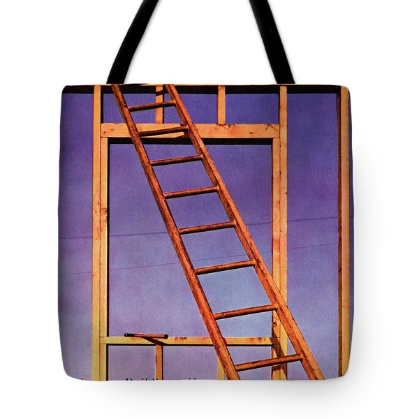 House & Garden Cover Illustration Of A Ladder Tote Bag