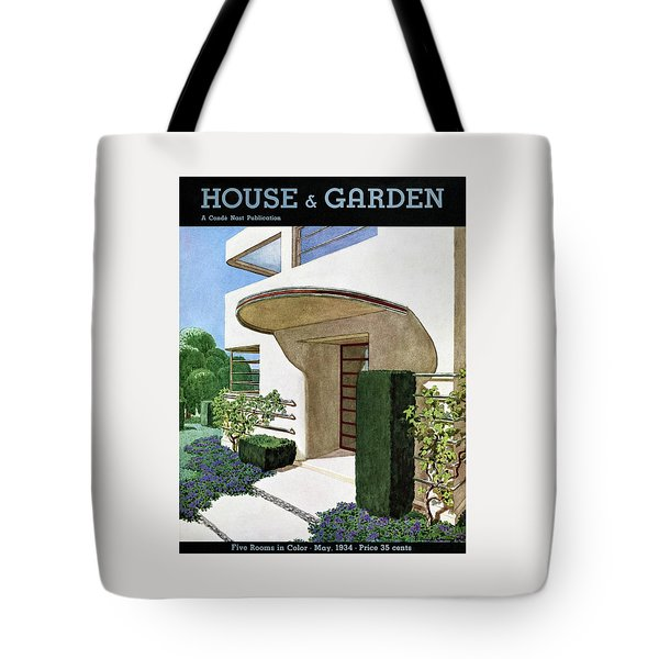 House & Garden Cover Illustration Of A Modern Tote Bag