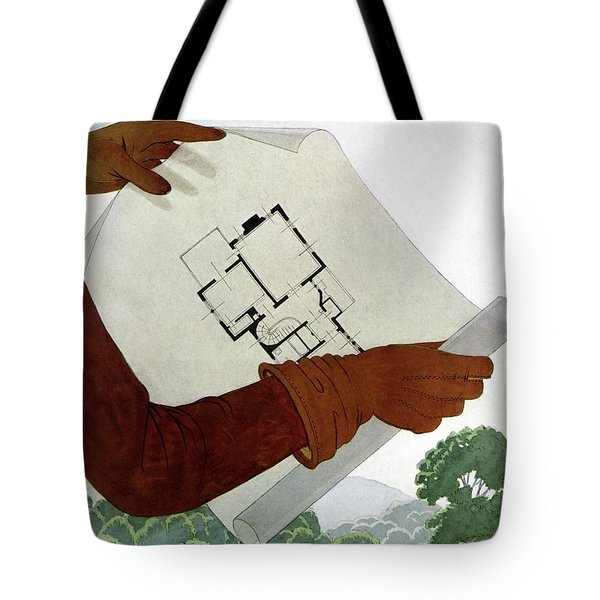 House & Garden Cover Illustration Of A Pair Tote Bag