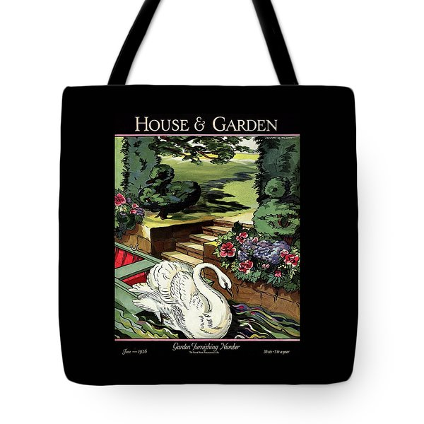 House & Garden Cover Illustration Of A Swan Tote Bag