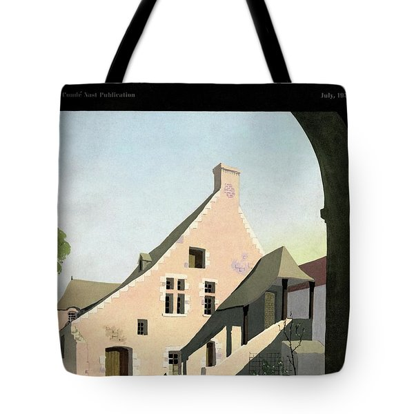 House & Garden Cover Illustration Of An Historic Tote Bag