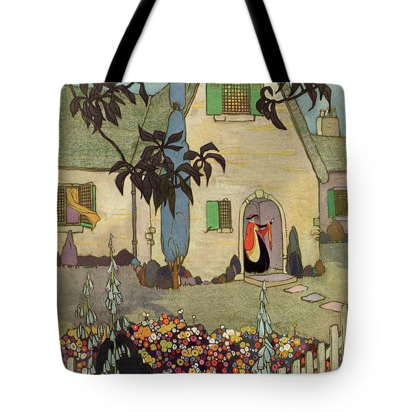 House & Garden Cover Illustration Of An Tote Bag