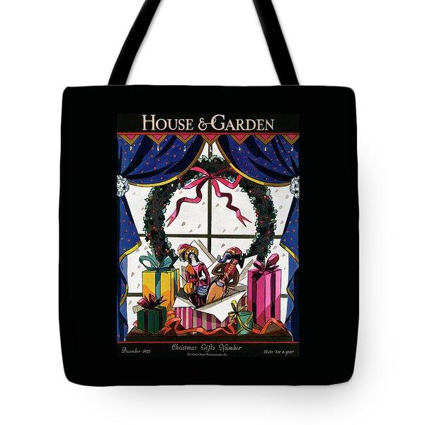 House & Garden Cover Illustration Of Christmas Tote Bag