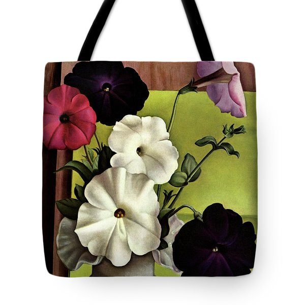House & Garden Cover Illustration Of Petunias Tote Bag