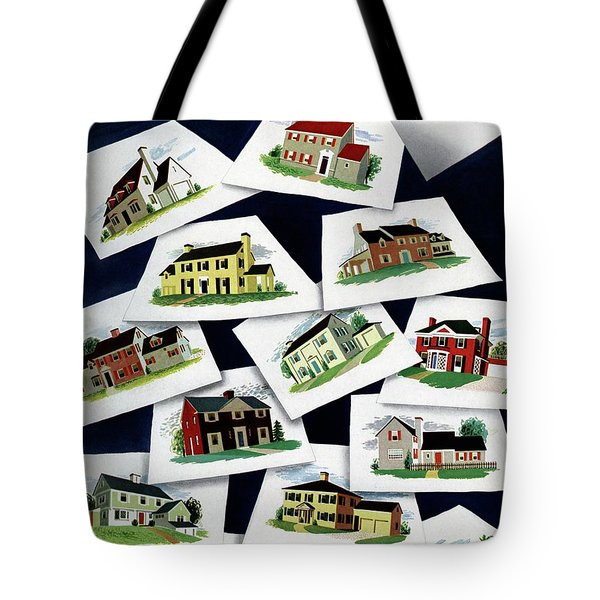 House & Garden Cover Illustration Of Various Homes Tote Bag
