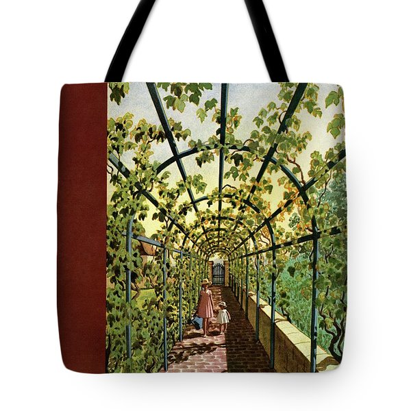 House & Garden Cover Illustration Of Young Girls Tote Bag