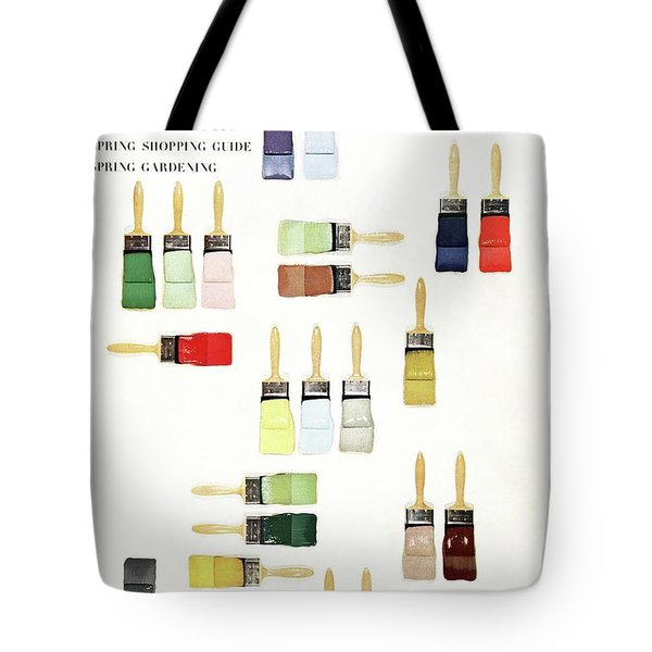 House & Garden Cover Of Paintbrushes Dripped Tote Bag
