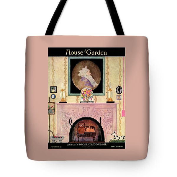 House And Garden Autumn Decorating Number Cover Tote Bag