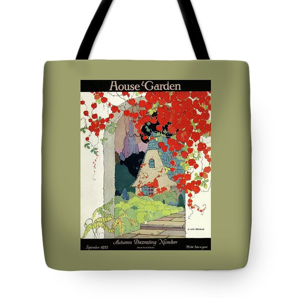 House And Garden Autumn Decorating Number Tote Bag