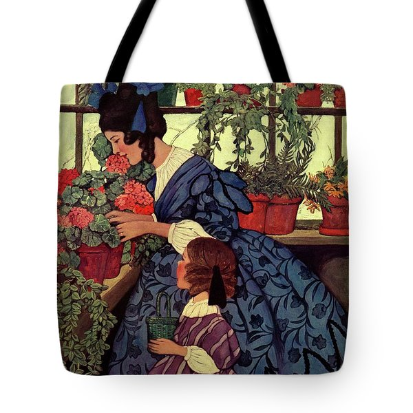 House And Garden Christmas Gift Number Cover Tote Bag