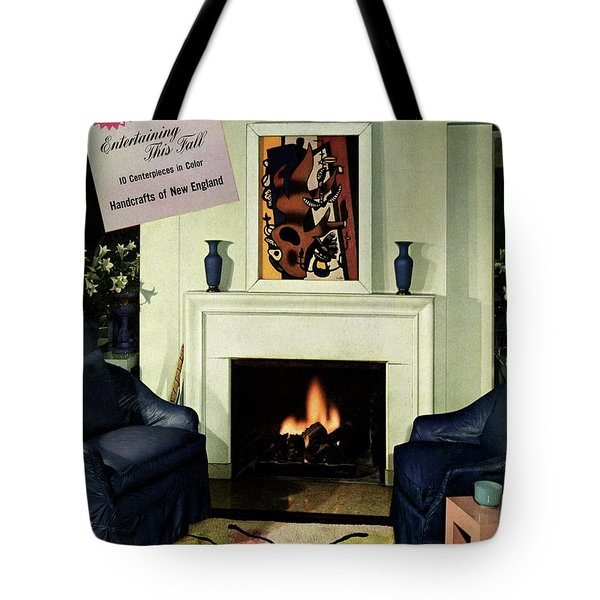 House And Garden Cover Featuring A Living Room Tote Bag