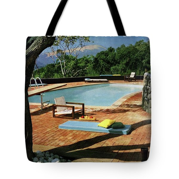 House And Garden Cover Featuring A Terrace Tote Bag