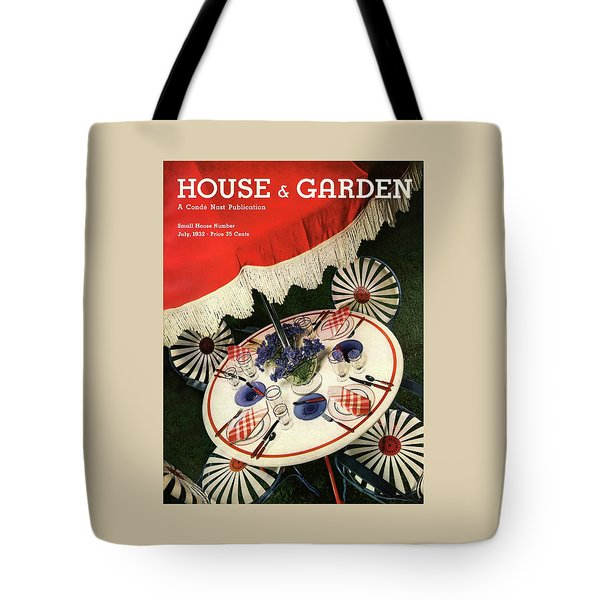 House And Garden Cover Featuring An Outdoor Table Tote Bag