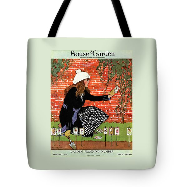 House And Garden Garden Planting Number Cover Tote Bag