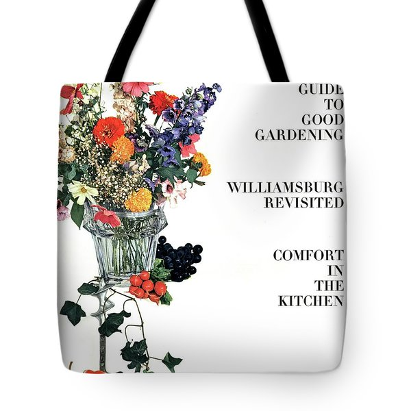 House And Garden Guide To Good Gardening Cover Tote Bag