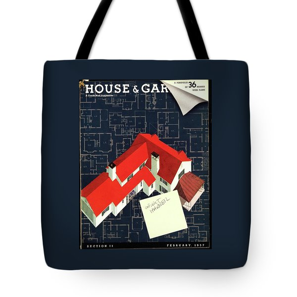 House And Garden Houses With Plans Cover Tote Bag